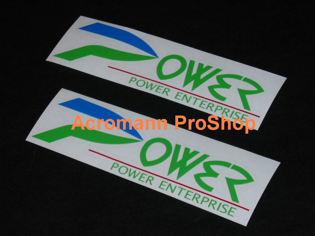 Power Enterprise 6inch Decal (Style#1) x 2 pcs
